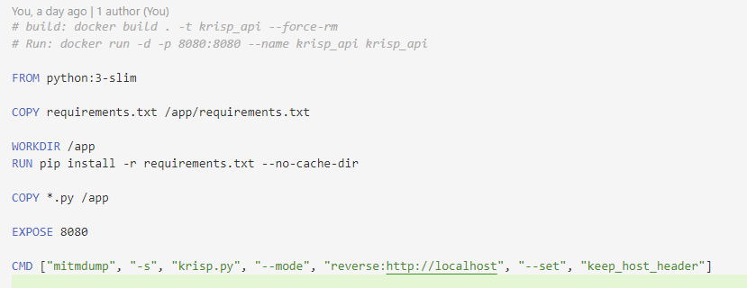 Dockerfile示例